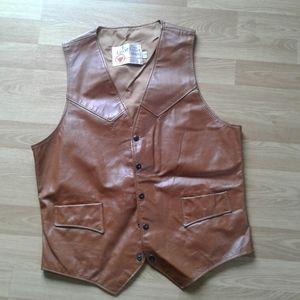 Vtg.men's leather vest unisex